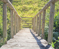 Wooden Small Bridge Royalty Free Stock Image