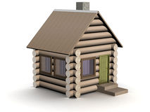 Wooden small house. The isolated illustration. Stock Photography