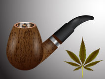 Wooden smoking pipe Royalty Free Stock Photo