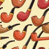 Wooden smoking pipe Stock Image