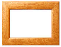 Wooden snooth frame. Wooden smooth frame isoletedon white royalty free stock image