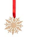 Wooden snowflake Royalty Free Stock Photo