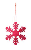 Wooden snowflake Royalty Free Stock Image