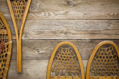 Wooden snowshoes abstract Stock Photos