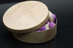 Wooden soap box and rose Stock Photo