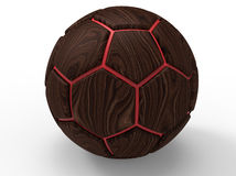 Wooden soccer ball Royalty Free Stock Photo