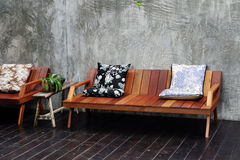 Wooden sofa Royalty Free Stock Photography