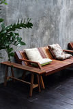 Wooden sofa Stock Image