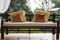 Wooden sofa Royalty Free Stock Image