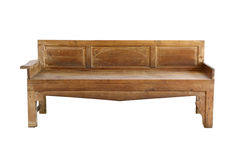 Wooden sofa Royalty Free Stock Image