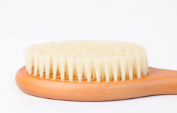 Wooden soft body brush Royalty Free Stock Photos