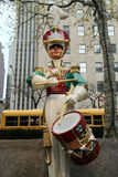 Wooden soldier drummer Christmas decoration at the Rockefeller Center in Midtown Manhattan Royalty Free Stock Photography