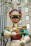 Wooden soldier drummer Christmas decoration at the Rockefeller Center in Midtown Manhattan Royalty Free Stock Photo