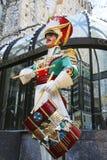 Wooden soldier drummer Christmas decoration at the Rockefeller Center in Midtown Manhattan Stock Photos