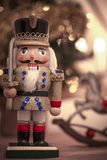 Wooden soldier toy - christmas ornament Royalty Free Stock Photography