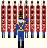 Wooden Soldiers Army Royalty Free Stock Photos