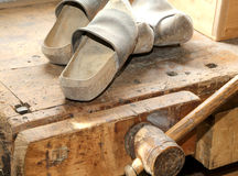 Wooden soled type dutch clogs Stock Image