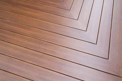 Wooden solid floor. Wooden solid teak parquet floor Royalty Free Stock Photos