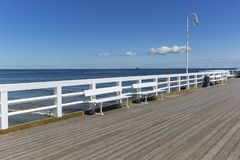 Wooden Sopot pier in sunny summer day, Sopot, Poland. Wooden Sopot pier in sunny summer day, Sopot, Poland stock photos