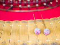 Wooden soprano xylophone, the Thai music instrument Stock Photo