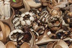 Wooden souvenir traditional kitchenware Stock Photos