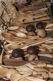 Wooden souvenir traditional kitchenware Royalty Free Stock Image