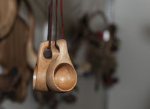 Wooden souvenir traditional kitchenware Stock Photography