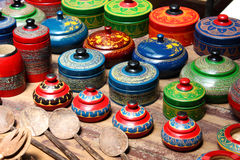 Wooden souvenirs Stock Images