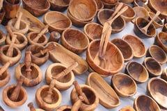 Wooden souvenirs Stock Image