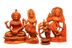 Wooden souvenirs of handwork Stock Images