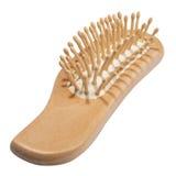 Wooden spa hairbrush Stock Photos
