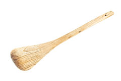 Wooden spade of frying pan Royalty Free Stock Photo