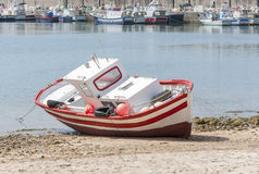 Wooden Spanish fishing boat Royalty Free Stock Photo