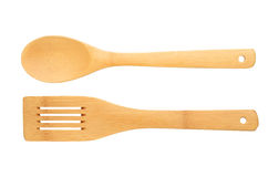 Wooden spatula and spoon Stock Images