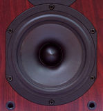 Wooden speaker Royalty Free Stock Images
