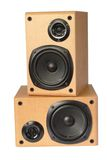 Wooden speaker box Royalty Free Stock Image