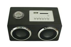 Wooden speaker isolated on white Stock Image