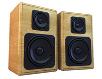 Wooden speakers Royalty Free Stock Image