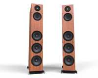 Wooden Speakers Royalty Free Stock Photo