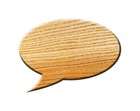 Wooden Speech Bubble Royalty Free Stock Photo
