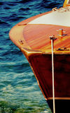 Wooden speed boat bow Royalty Free Stock Photos