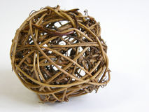 Wooden sphere. Photo of a wooden sphere stock image