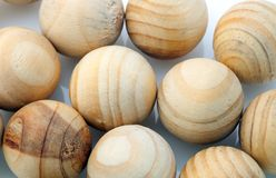 Wooden spheres Stock Photography