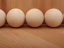 Wooden spheres close up Stock Image