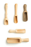 Wooden spice scoop isolated on Royalty Free Stock Photo