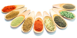 Wooden spice spoons Stock Image