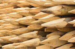 Wooden spikes background Royalty Free Stock Images