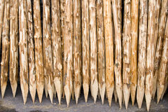 Wooden spile Stock Photo