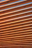 Wooden Spindles. In an overhead structure stock images