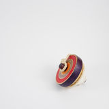 Wooden spinning top toy  Royalty Free Stock Images